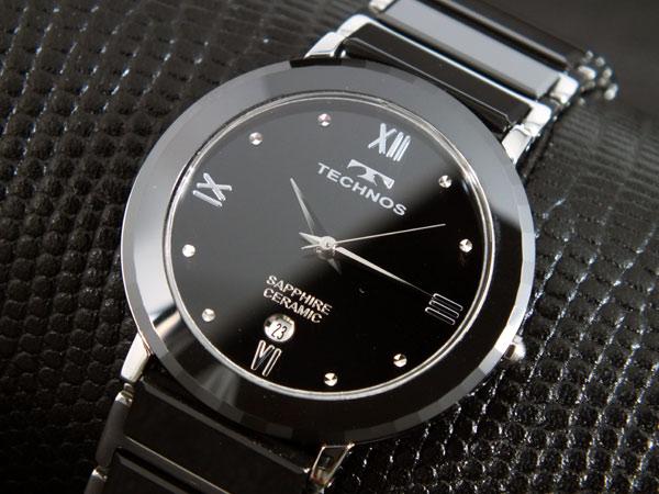 テクノス TECHNOS クォーツ 腕時計 セラミック メンズ T9120TB 【新品】テクノス腕時計 メンズ 男性用 大人の落ち着きと気品を備えたデザイン