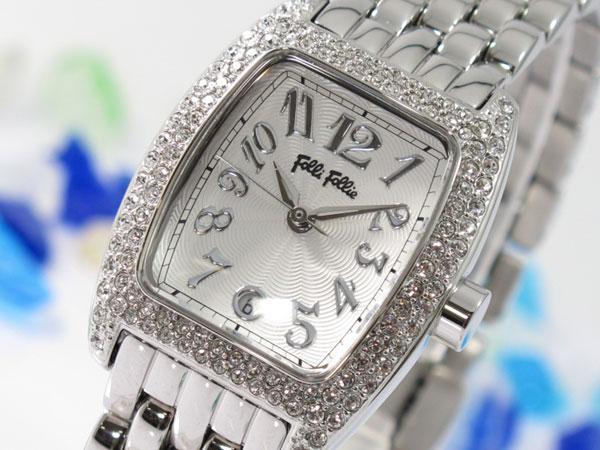 フォリフォリ腕時計 フォリフォリ FOLLI FOLLIE 腕時計 WF5T081BDS レディース 女性用★飽きのこないトノー型ケースにクリスタルの輝き!