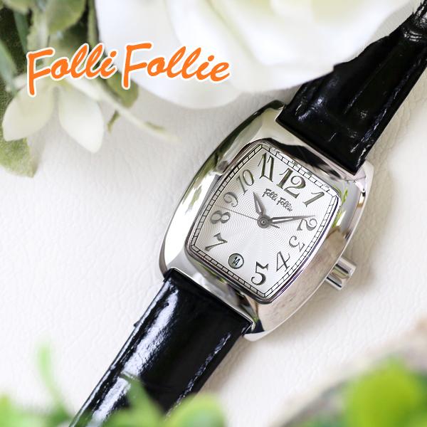 フォリフォリS922-SVBK  FOLLI FOLLIE クオーツ レディース 腕時計 シルバー/ブラック  黒 レディース 女性用