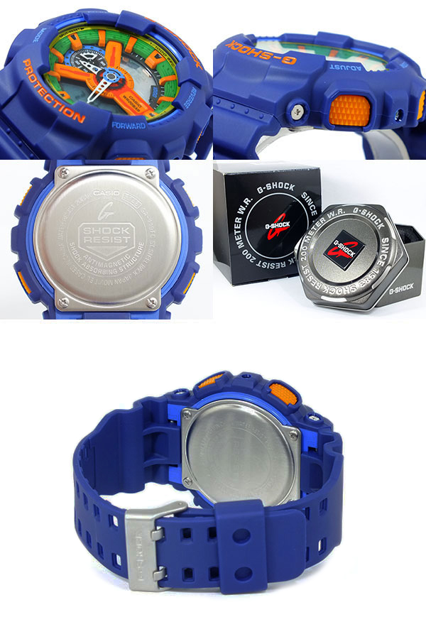 CASIO GA-110FC-2A G-SHOCK カシオ Gショック アナデジ 腕時計 耐磁性能 クレイジーカラーズ【Crazy Colors】ブルー  青 【国内 GA-110FC-2AJF と同型】海外モデル【新品】