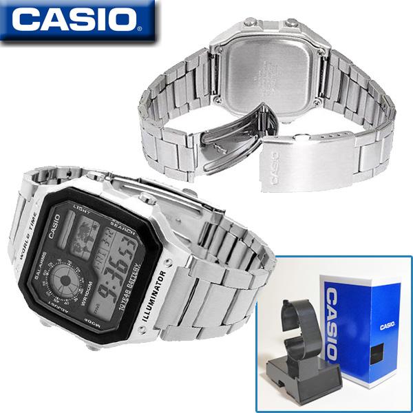 CASIO AE-1200WHD-1A WORLD TIME STANDARD DIGITAL カシオ【ワールドタイム】多機能デジタル 腕時計【10気圧防水】【長寿命10年バッテリー】海外モデル【新品】ベルトサイズ調整無料サービス♪
