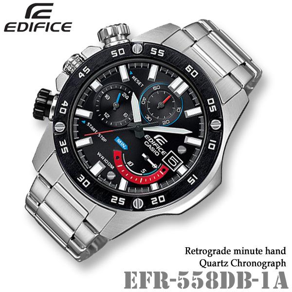 CASIO EDIFICE EFR-558DB-1A カシオ エディフィス クォーツ クロノグラフ メンズ 腕時計【10気圧防水】海外モデル【新品】『宅配便』*送料無料*(北海道・沖縄は一部ご負担)