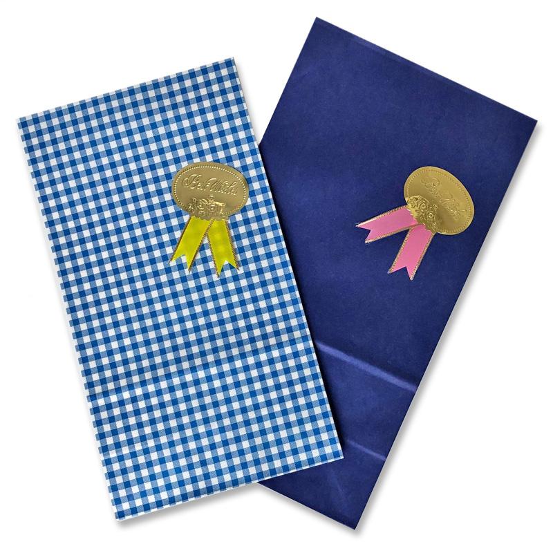 <title>紙袋の色やメッセージシールへの変更も可 気さくなギフトに メール便専用 青色系 未晒し紙袋リボンシールラッピング 日本限定</title>