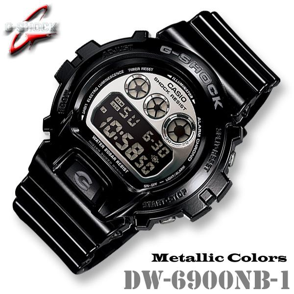 CASIO G-SHOCK DW-6900NB-1 カシオ Gショック 腕時計 Metallic Colors【メタリックカラーズ】黒 ブラック【国内 DW-6900NB-1JF と同型】海外モデル【新品】*送料無料*(北海道・沖縄は一部ご負担)