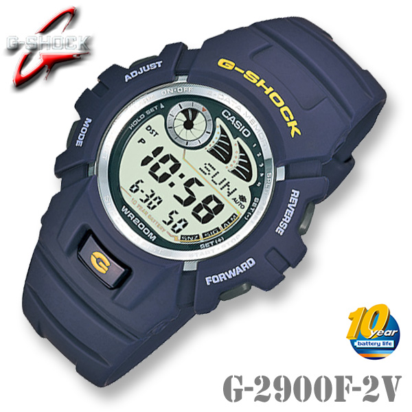 CASIO G-SHOCK G-2900F-2V カシオ Gショック デジタル 腕時計 ネイビーブルー【電池寿命 10年】海外モデル【新品】ジーショック*送料無料*(北海道・沖縄は一部ご負担)