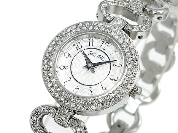 *送料無料*★おススメです!フォリフォリ 腕時計 シルバー  レディース 女性用 フォリフォリ FOLLI FOLLIE 腕時計 WF1A046BPS