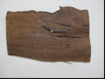 無垢の木目、素材、形を生かした神代ケヤキの掛け時計です9【送料無料】