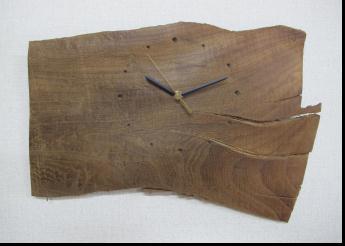 無垢の木目、素材、形を生かした神代ケヤキの掛け時計です4【送料無料】