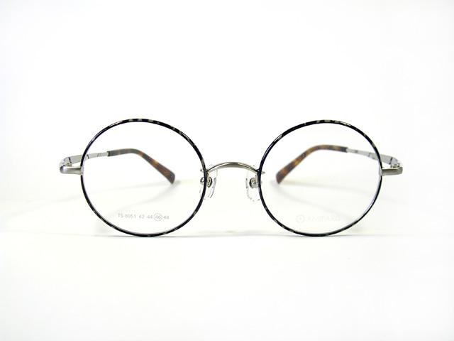 【最新型】アミパリ amiparis TS-8051E C-22 丸メガネ 46サイズ シャーリングシルバー