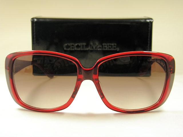 セシルマクビー セルのデカサングラスレッドCECIL McBEE-1014-3