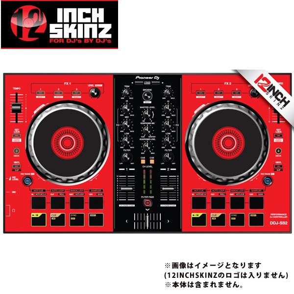 【緊急告知 12/19~26限定エントリ―P7倍】12inch SKINZ / Pioneer DDJ-SB2 SKINZ (Red/Black) 【DDJ-SB2用スキン】