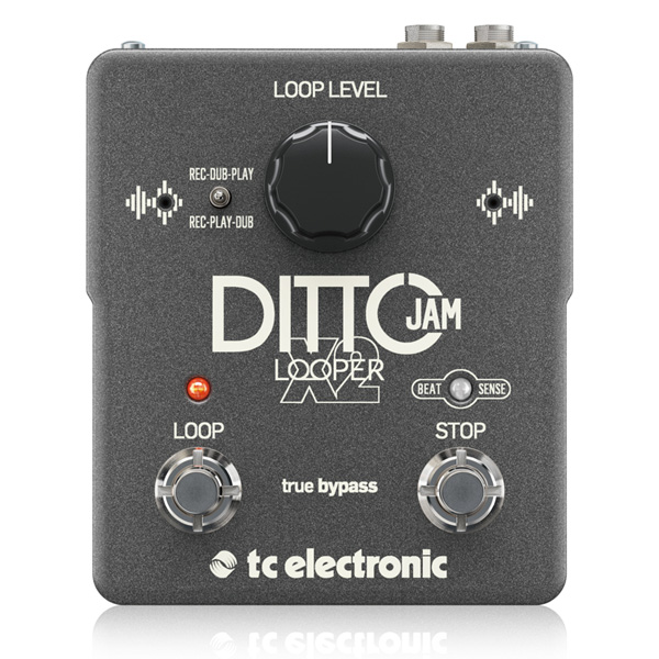 TC Electronic(ティーシーエレクトロニック) / DITTO JAM X2 - Rec-Play/Rec-Dubモード、多重録音、 BeatSense技術搭載 ルーパー・ペダル -
