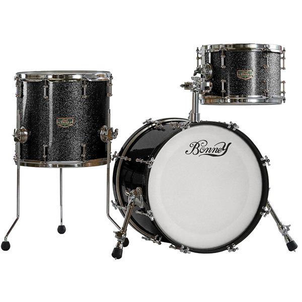 【納期要確認】Bonney Drum Japan(ボニードラムジャパン) / Bop JAZZ Drum set [Space Black (Sparkle) ]- ドラムセット -