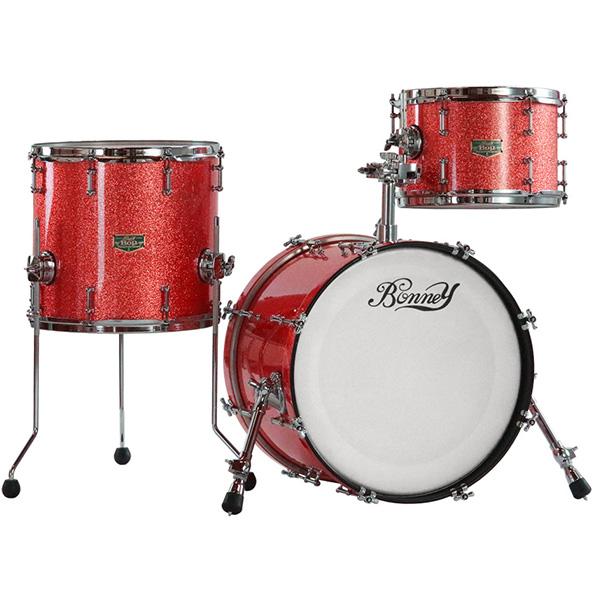 【納期要確認】Bonney Drum Japan(ボニードラムジャパン) / Bop JAZZ Drum set [Sunshine (Sparkle) ]- ドラムセット -