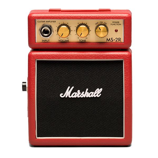 【緊急告知 12/19~26限定エントリ―P7倍】Marshall(マーシャル) / MS-2R (レッド) - 電池駆動 ミ二アンプ ギターアンプ -
