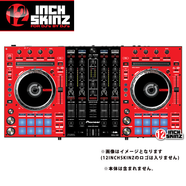 12inch 12inch SKINZ/ Pioneer DDJ-SX DDJ-SX SKINZ (RED/BLACK)【DDJ-SX用スキン SKINZ】, SUNCO直営スーツケースのSojourner:bb4eca34 --- loveszsator.hu