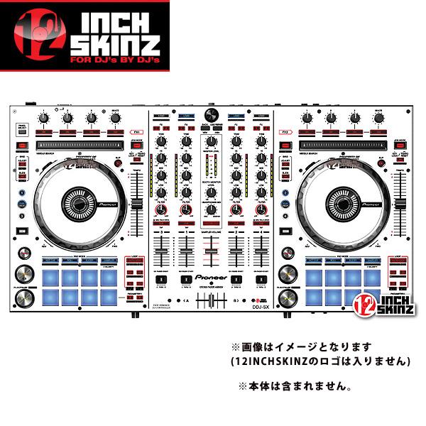 12inch SKINZ / Pioneer DDJ-SX SKINZ(WHITE/BLACK) 【DDJ-SX用スキン】