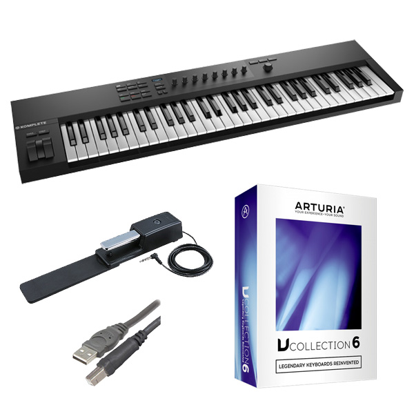 2大特典付 KOMPLETE KONTROL A61 / V COLLECTION 6 セット