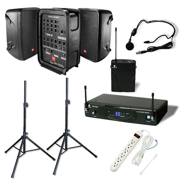 【ワイヤレスヘッドマイクセット】 EON208P / Concert 88 Headset ポータブルPAシステム 《 講演 ・イベントに最適 》