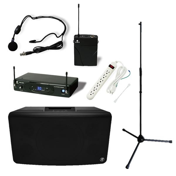 【ワイヤレスヘッドマイクセット】 FreePlay LIVE / KWS-899P/HM-38 スタンドセット 《セミナー・講習にオススメ 》