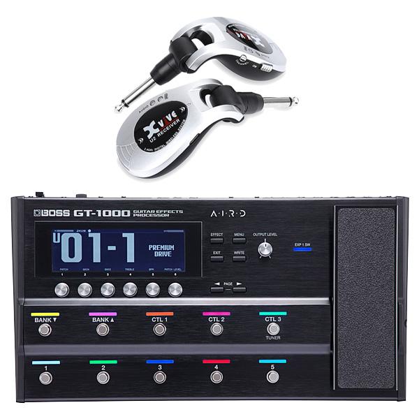 【ワイヤレスセット(シルバー)】 Boss(ボス) / GT-1000 Guitar Effects Processor / XV-U2 Digital Wireless - ギタープロセッサー マルチエフェクター デジタルワイヤレス ・システム - -