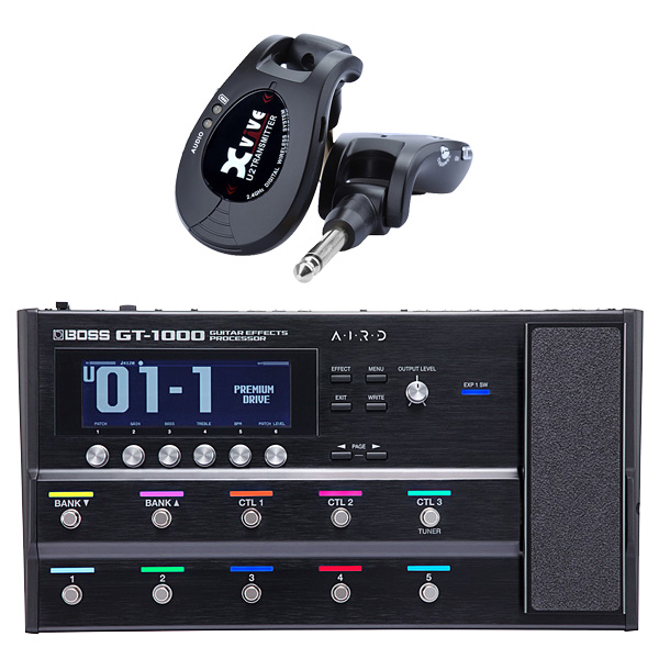 【ワイヤレスセット(ブラック)】 Boss(ボス) / GT-1000 Guitar Effects Processor / XV-U2 Digital Wireless - ギタープロセッサー マルチエフェクター デジタルワイヤレス ・システム - -