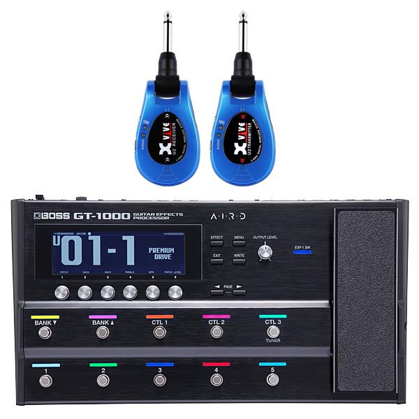 【ワイヤレスセット(限定カラー:ブルー)】 Boss(ボス) / GT-1000 Guitar Effects Processor / XV-U2 Digital Wireless - ギタープロセッサー マルチエフェクター デジタルワイヤレス ・システム - -