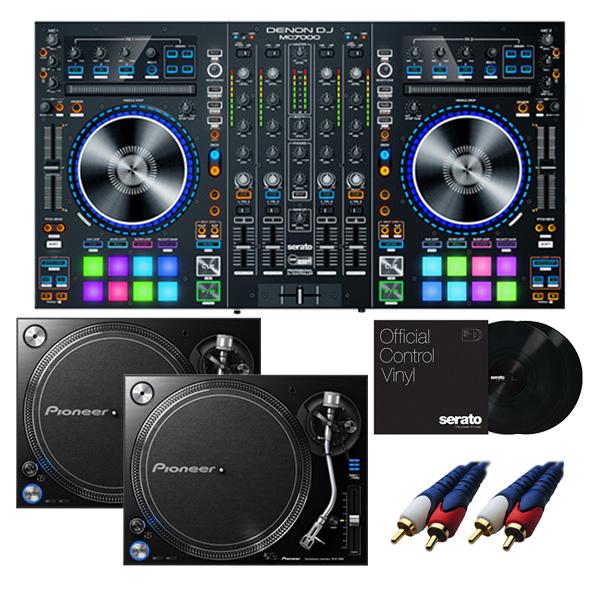 【8大特典付】 Denon/MC7000 【Serato DJ Pro+Serato Expansion Pack無償】 PLX-1000 DVSセット