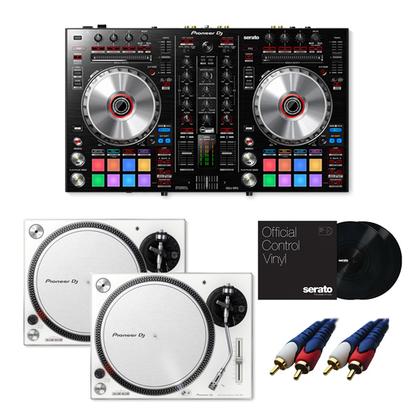 8大特典付 Pioneer / DDJ-SR2 【Serato DJ Pro+P'NT DJ無償】 PLX-500-W DVSセット