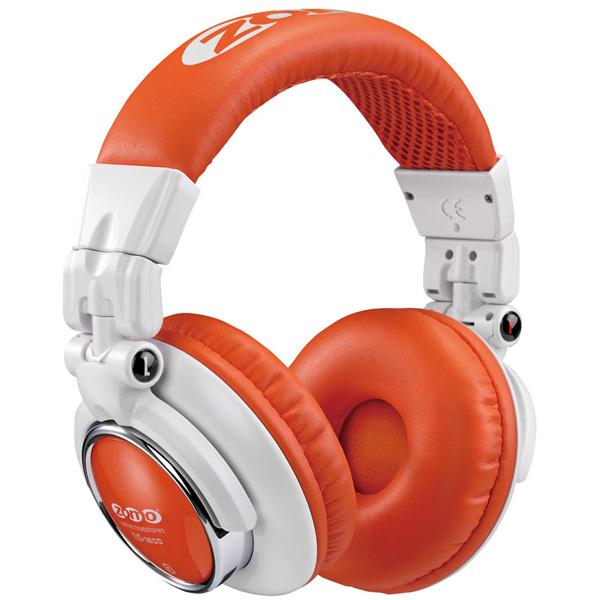 1大特典付 ZOMO / HD-1200 (White/Orange) ゾモ 密閉型 DJヘッドホン 【正規輸入品】