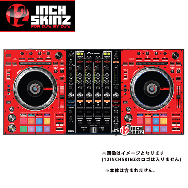 12inch SKINZ / Pioneer DDJ-SZ SKINZ (RED/BLACK) 【DDJ-SZ用スキン】