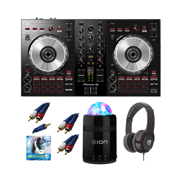 6大特典付 Pioneer(パイオニア) /DDJ-SB3 / Party Starter 激安初心者セット【Serato DJ Lite 無償】