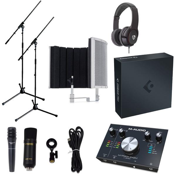 【 Cubase Pro 10 (アカデミック版) 高品質弾き語り録音セットA 】 Marantz(マランツ) MPM-1000U / M-TRACK 2x2M / PRO63 / Sound Shield Live セット