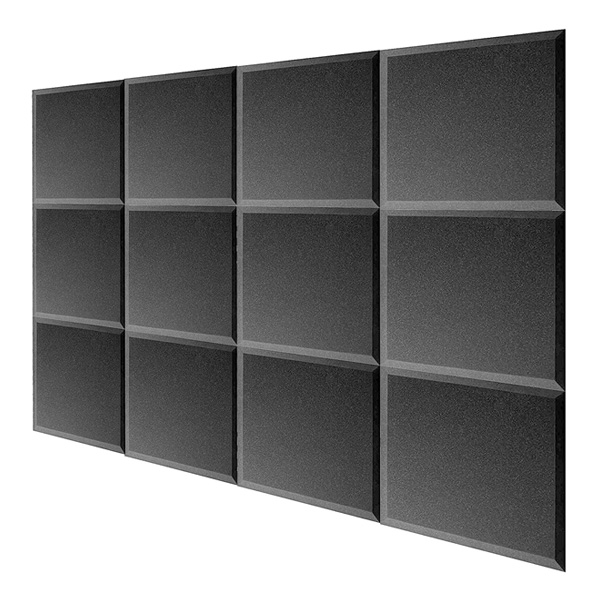 【緊急告知 12/19~26限定エントリ―P7倍】Mybecca / Acoustic Panels Studio Foam charcoal (30.5×30.5 x 2.5cm) 12個パック - 吸音材 - 直輸入品