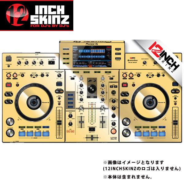12inch SKINZ / Pioneer XDJ-RX SKINZ Metallics (Mirror Gold) 【XDJ-RX用スキン】