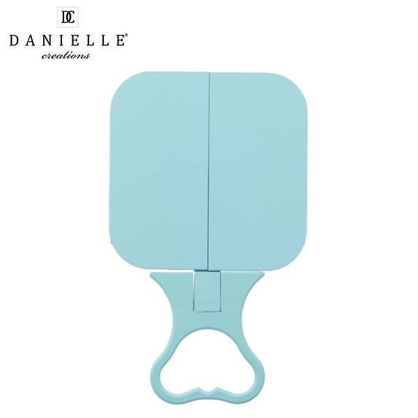 Danielle(ダニエル) / 0783 (ブルー) 《通常鏡》 [鏡面 12cm x 12cm] 【等倍率】 -手鏡/卓上型テーブルミラー-