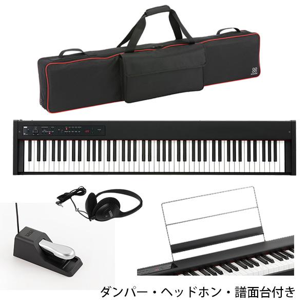 【専用バッグセット】 Korg(コルグ) / D1 スピーカーレス デジタルピアノ 「譜面立て・ダンパーペダル・ヘッドホン付き」
