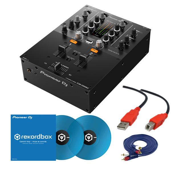 2大特典付 Pioneer DJ(パイオニア) / DJM-250MK2 & コントロールバイナル(クリアブルー)DVSセット