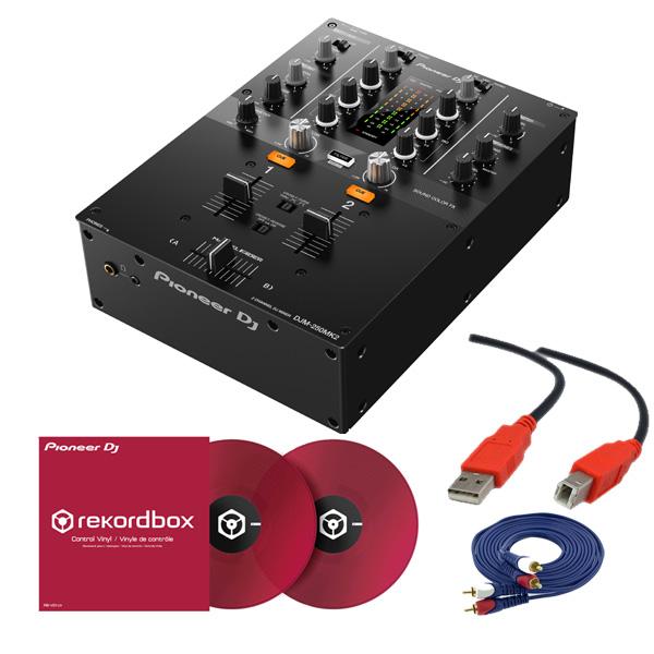 2大特典付 Pioneer DJ(パイオニア) / DJM-250MK2 & コントロールバイナル(クリアレッド)DVSセット