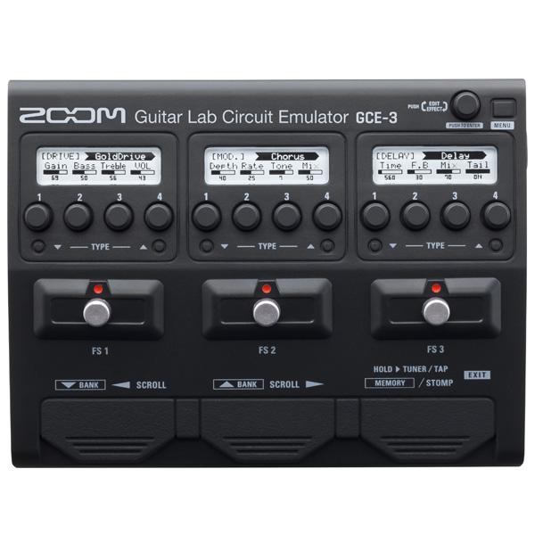 Zoom(ズーム) / GCE-3 Guitar Lab Circuit Emulator ギター ベース USBオーディオインターフェイス 「Cubase LE」がバンドル