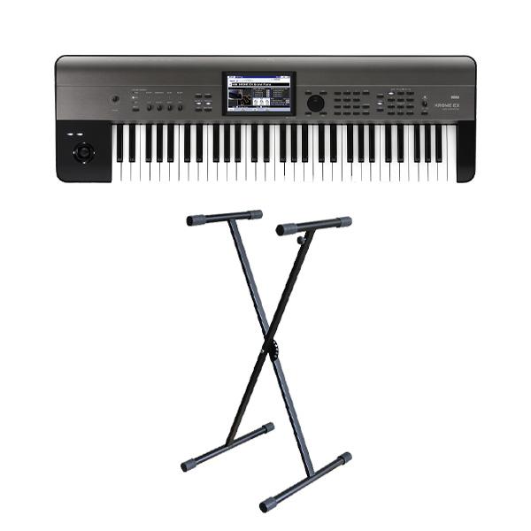 【X型スタンドセット】 Korg(コルグ) / KROME-61 EX ( 61鍵盤 ) - デジタルシンセサイザー -