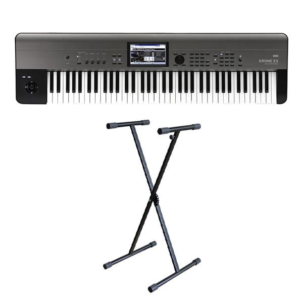 【X型スタンドセット】 Korg(コルグ) / KROME-73 EX ( 73鍵盤 ) - デジタルシンセサイザー -
