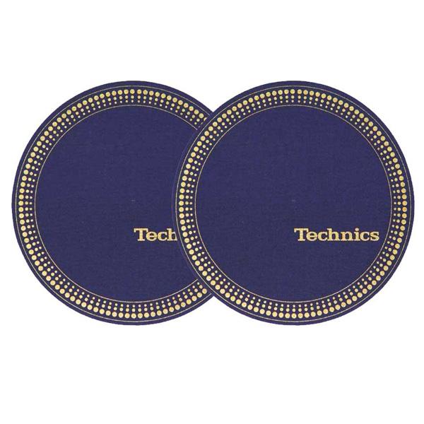 絶妙なカラーリング Technics Slipmats Strobo blue-golden テクニクス スリップマット 開店記念セール 2枚 人気激安 1ペア