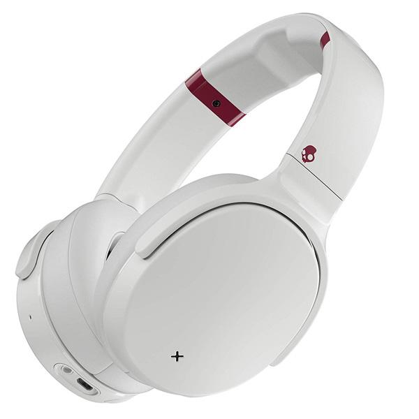 Skullcandy / VENUE (White/Crimson) ノイズキャンセル機能搭載 Bluetooth対応ワイヤレスヘッドホン 直輸入品 【スカルキャンディ】