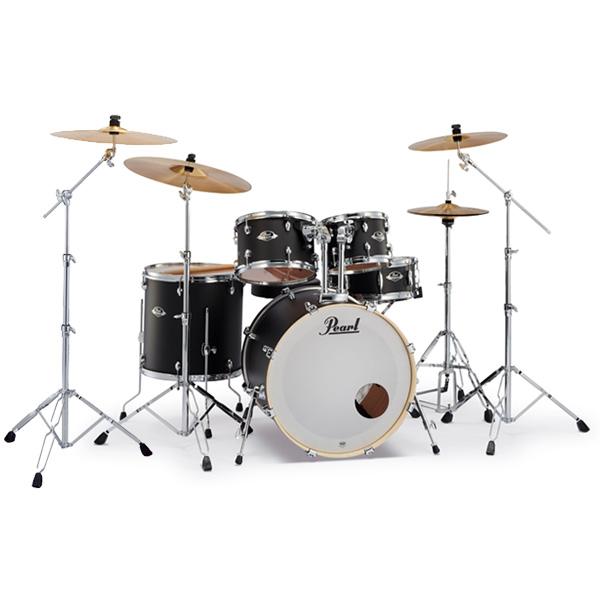 Pearl(パール) / EXPORT EXX Covering 2クラッシュシンバルパック [サテンシャドーブラック] 【EXX725S/C-2CSN 761】 ドラム一式セット シンバル付フルセット