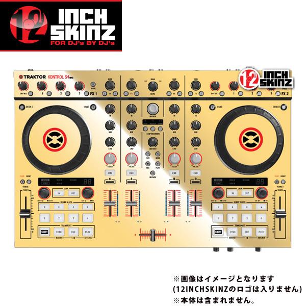 12inch SKINZ / Native Instruments Kontrol S4 MK2 Skinz Metallics (Mirror Gold) 【Kontrol S4 MK2 用スキン】
