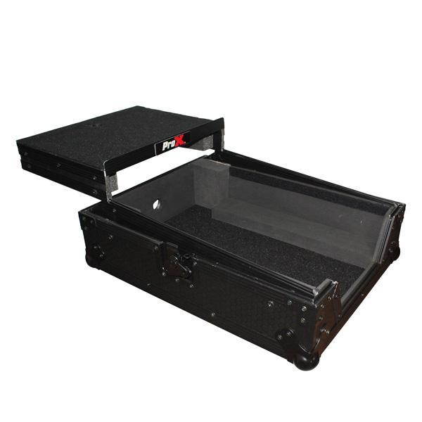 ProX / XS-M12LTBL 【大型DJミキサー1台収納可能(スライド式PC棚付)】 フライトケース