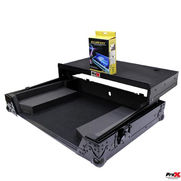 ProX / XS-DDJSR2 LTBL LED 【Pioneer / DDJ-SR2専用(スライド式PC棚&LEDキット付)】 フライトケース