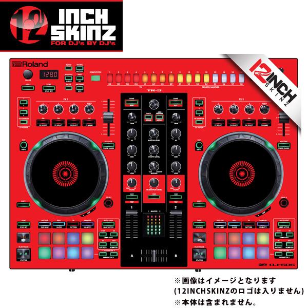 【緊急告知 12/19~26限定エントリ―P7倍】12inch SKINZ / Roland DJ-505 Skinz (Red/Black) 【Roland DJ-505 用スキン】
