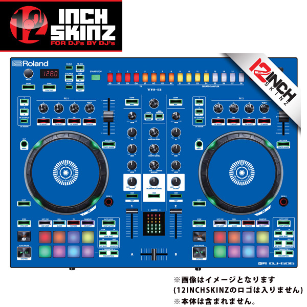 【緊急告知 12/19~26限定エントリ―P7倍】12inch SKINZ / Roland DJ-505 Skinz (Blue) 【Roland DJ-505 用スキン】